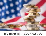 national flag of america and... | Shutterstock . vector #1007715790