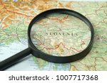 map of slavenia and magnifying...   Shutterstock . vector #1007717368