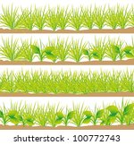 set of grass  set of grass ... | Shutterstock .eps vector #100772743
