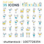set of vector line icons  sign... | Shutterstock .eps vector #1007728354