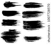 grunge ink brush strokes set....   Shutterstock .eps vector #1007728570