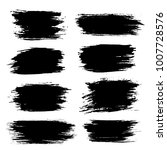 grunge ink brush strokes set.... | Shutterstock .eps vector #1007728576