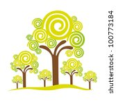 abstract trees  isolated on... | Shutterstock .eps vector #100773184
