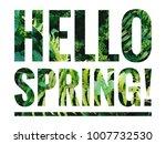 inspirational qoutes 'hello...   Shutterstock . vector #1007732530