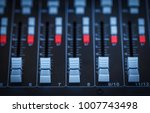 close up sound mixer useful for ... | Shutterstock . vector #1007743498