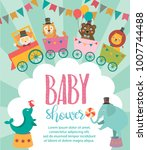 baby shower party invitation... | Shutterstock .eps vector #1007744488