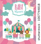 baby shower party invitation... | Shutterstock .eps vector #1007744818