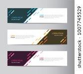 banner background. modern... | Shutterstock .eps vector #1007745529