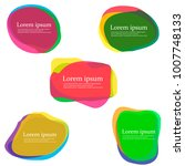 colorful set of abstract stains ... | Shutterstock . vector #1007748133