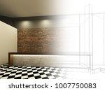 sketch design of counter bar ...   Shutterstock . vector #1007750083