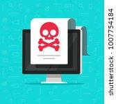 alert notification on computer... | Shutterstock .eps vector #1007754184