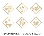 set of vector icons on... | Shutterstock .eps vector #1007754670