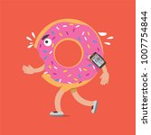 donut on the run with... | Shutterstock .eps vector #1007754844