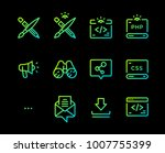 set of vector icons of...