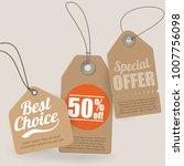 vector set of retro vintage... | Shutterstock .eps vector #1007756098