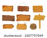 Wooden Signs Boards Set With...