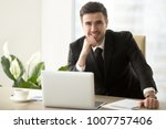 portrait of happy smiling... | Shutterstock . vector #1007757406