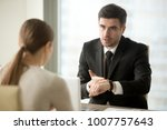 angry company head pointing at... | Shutterstock . vector #1007757643
