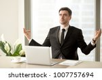 handsome man in business suit... | Shutterstock . vector #1007757694