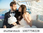 bride and groom lifestyle alone ... | Shutterstock . vector #1007758228