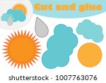 sun  cloud with drop  education ... | Shutterstock .eps vector #1007763076