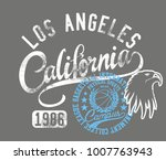 california los angeles and new...   Shutterstock .eps vector #1007763943