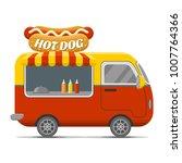 hot dog street food caravan... | Shutterstock .eps vector #1007764366