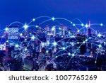 wireless communication network...   Shutterstock . vector #1007765269