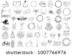 collection of minimal vintage... | Shutterstock .eps vector #1007766976