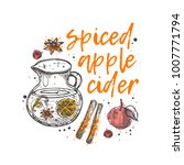 spiced apple cider. logo  icon... | Shutterstock .eps vector #1007771794