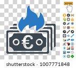 burn euro banknotes pictograph... | Shutterstock .eps vector #1007771848