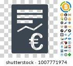 euro report icon with bonus...