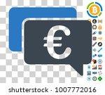 euro messages icon with bonus...