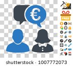 euro chat icon with bonus...