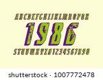 italic narrow serif bulk font... | Shutterstock .eps vector #1007772478