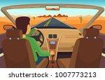 man driving car. cabriolet... | Shutterstock .eps vector #1007773213