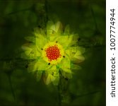 Abstract Floral Background In...