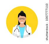 medical doctor profile icon.... | Shutterstock .eps vector #1007777110