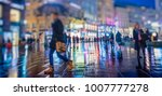 crowd of anonymous people... | Shutterstock . vector #1007777278