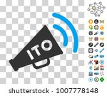 ito alert megaphone pictograph...