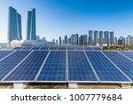 solar and modern city skyline   | Shutterstock . vector #1007779684
