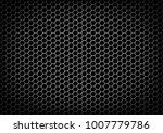 Hexagon Metallic Texture Vecto...