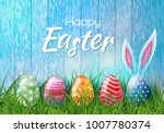 happy easter background with... | Shutterstock .eps vector #1007780374