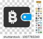 bitcoin pouch pictograph with... | Shutterstock .eps vector #1007783260