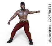 3d cg rendering of a warrior | Shutterstock . vector #1007786953