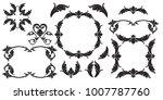 classical baroque vector set of ... | Shutterstock .eps vector #1007787760