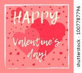 cute hand drawn valentine's day ... | Shutterstock .eps vector #1007787796