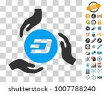 dash coin care hands pictograph ...