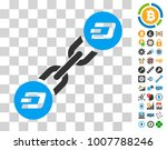 dash blockchain pictograph with ...