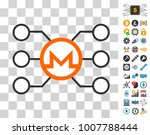monero node links icon with...